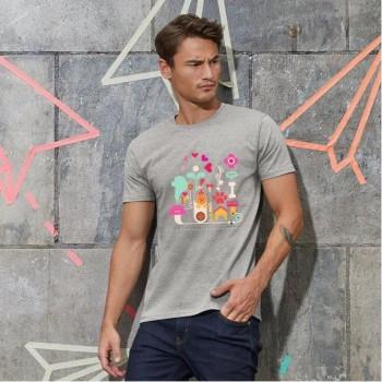 T-Shirt uomo cane Terranova - grafica Newfy Passion 1