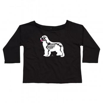 Felpa da donna in cotone organico manica 3/4 con grafica cane Terranova - Newfy X Ray