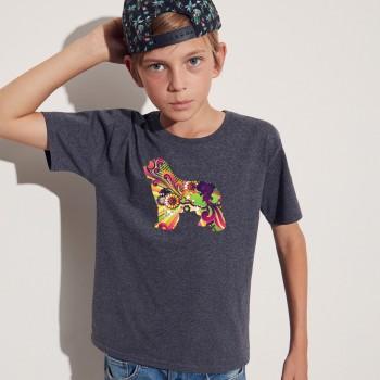 T-Shirt bimbo con grafica Terranova Newfy Vintage