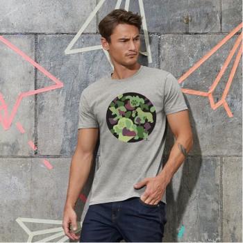 T-Shirt uomo con grafica cane Terranova - Camouflage