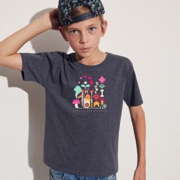 T-Shirt bimbo con grafica Terranova Newfy Passion 1