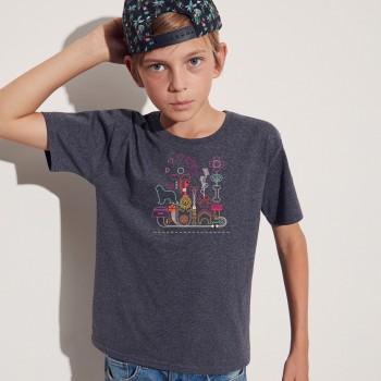 T-Shirt bimbo con grafica Terranova Newfy Passion 2