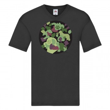 T-shirt bambino con grafica cane Terranova Newfy Camouflage