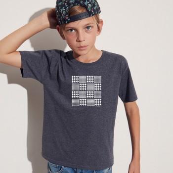 T-shirt bambino con grafica cane Terranova Newfy Prince of Wales