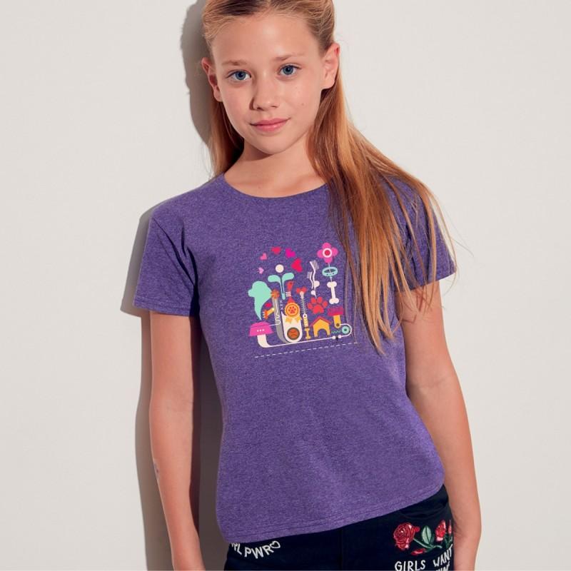 T-Shirt bimba con grafica Terranova Newfy Passion 1