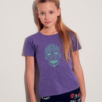 T shirt bimba con grafica cane Terrranova Newfy La noche de los muertos 1