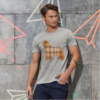 T-Shirt uomo con grafica cane Terranova - Tartan