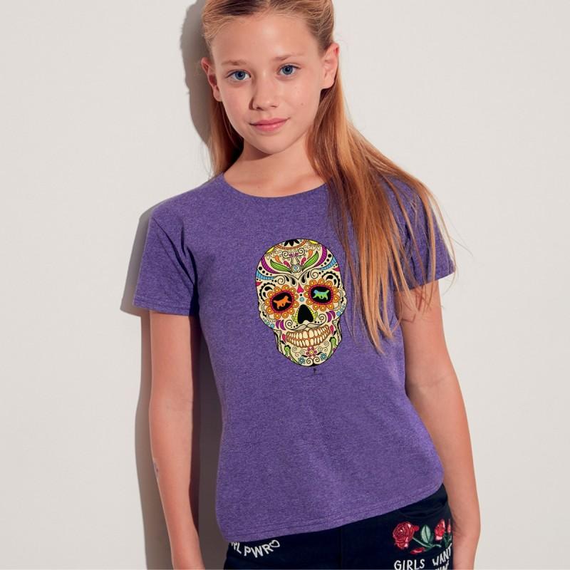 T shirt bimba con grafica cane Terrranova Newfy La noche de los muertos 2