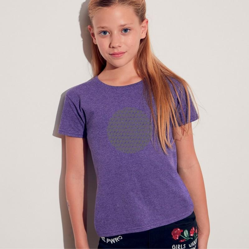 T shirt bimba con grafica cane Terrranova Newfy Optical