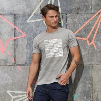 T-Shirt uomo con grafica cane Terranova - Prince of Wales