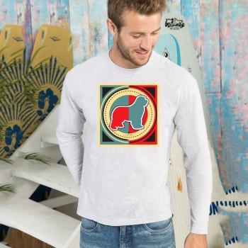 T-shirt manica lunga con grafica cane Terranova Newfy Industrial