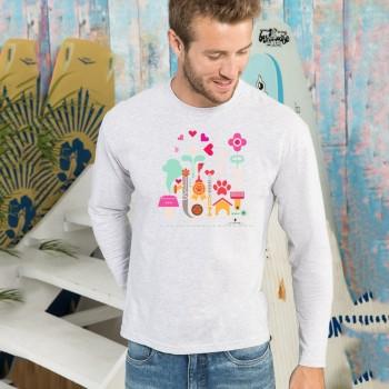 T-shirt manica lunga con grafica cane Terranova Newfy  Passion