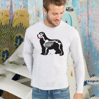 T-shirt manica lunga con grafica cane Terranova Newfy X-Ray