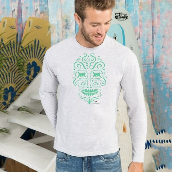 T-shirt manica lunga con grafica cane Terranova Newfy la noche de los muertos 1