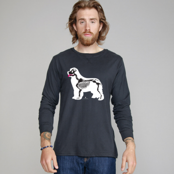 T-shirt manica lunga Superstar con grafica cane Terranova Newfy X-Ray