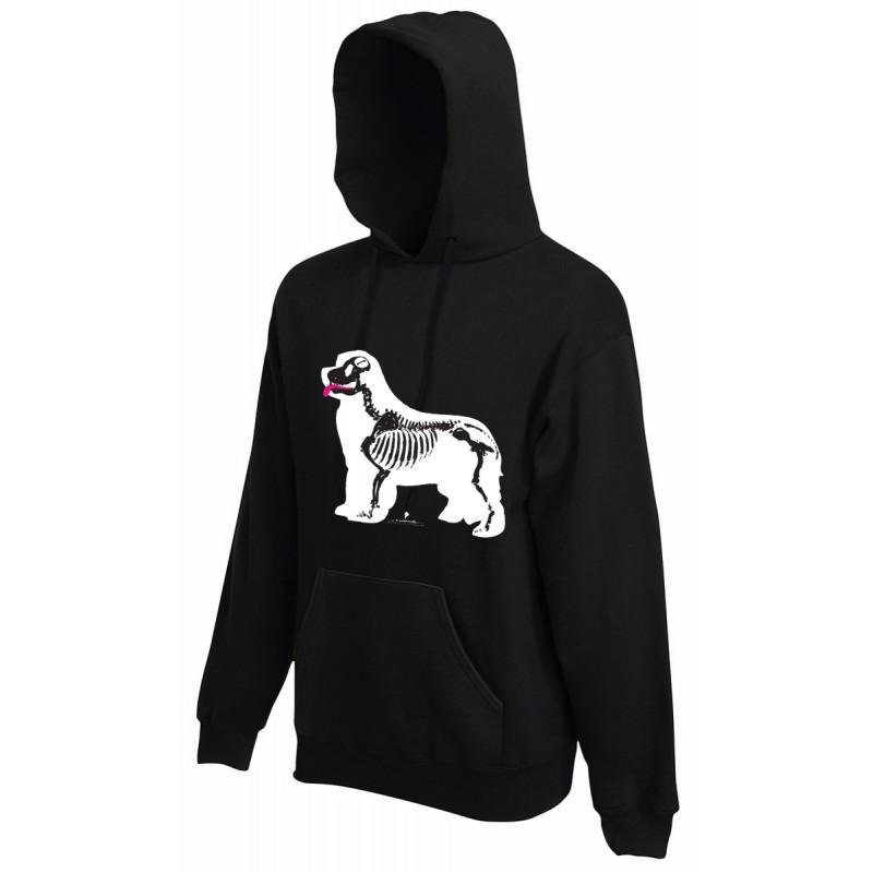 Felpa con cappuccio da uomo con grafica cane Terranova Newfy X Ray
