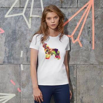 T-Shirt donna cane Terranova - grafica Newfy Vintage
