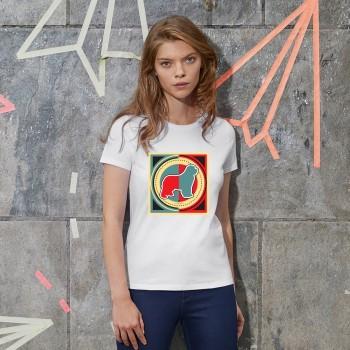 T-Shirt donna cane Terranova - grafica Newfy Industrial