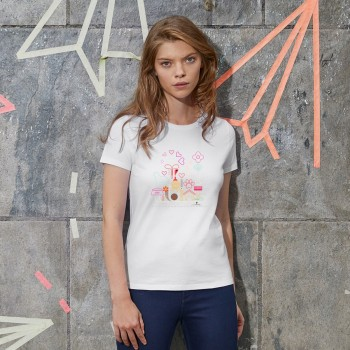 T-Shirt donna con grafica cane Terranova Newfy Passion 2
