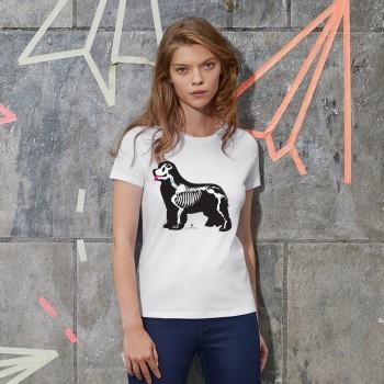 T-Shirt donna con grafica cane Terranova Newfy X Ray