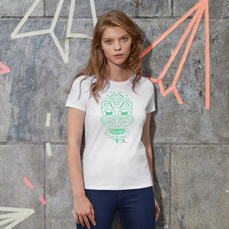 T-Shirt donna con grafica cane Terranova Newfy la noche de los muertos 1