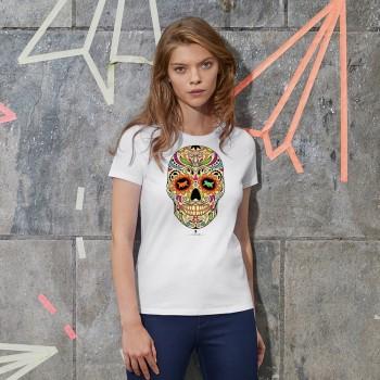 T-Shirt donna con grafica cane Terranova Newfy la noche de los muertos 2