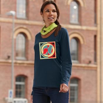 T-Shirt manica lunga da donna con grafica cane Terranova - Newfy Industrial