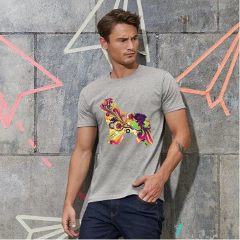 T-Shirt uomo cane Terranova - grafica Newfy Vintage