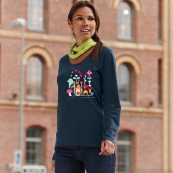 T-Shirt manica lunga da donna con grafica cane Terranova - Newfy Passion 1
