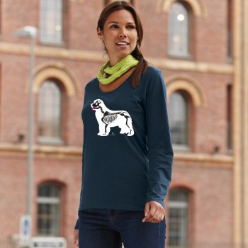 T-Shirt manica lunga da donna con grafica cane Terranova - Newfy X Ray