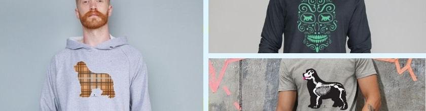 vendita tshirt, tshirt manica lunga e felpe con grafica cane terranova